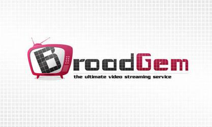 Broadgem - Streaming Service Logo by daddy11