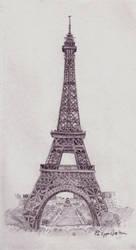 eiffel tower by padalyn