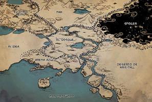 El mapa de el Vosque by Laurielle-Maven