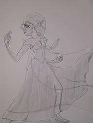 Elsa Pose by theanimationguy