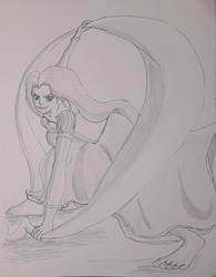 Repunzel Pose by theanimationguy