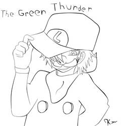 The Green Thunder Mr L Uncolored by kreshnik2000