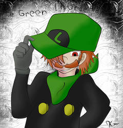 Mr L The Green Thunder Colored Version by kreshnik2000
