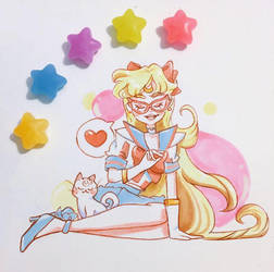 Sailor V Copic Illustration  by pomifumi