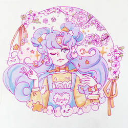 Lady Luna Sailor Moon Copic Illustration by pomifumi
