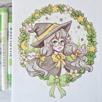 Garden Witch Traditional Illustration  by pomifumi