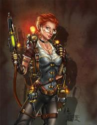 Janine Steampunk, S. Bergeron by ulamosart