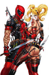 Harley Quinn and Deadpool, J. Tyndall by ulamosart