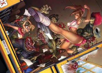 Zombies vs. Cheerleaders Relaunch, M. DeBalfo by ulamosart