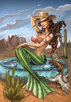 Zenescope Little Mermaid #4,nc, pencils: M. Dooney by ulamosart