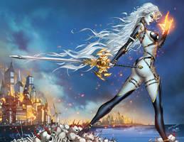 CC Lady Death ChaosRules #1, pencils: J. Tyndall by ulamosart