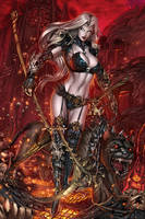 CC Lady Death Chaos Rules #1, pencils: J. Wichmann by ulamosart