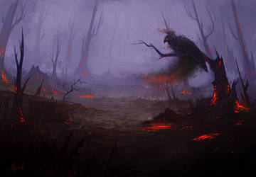 Scorched Forest by Akoriel