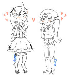 Moon and Star person by Ukyocchi