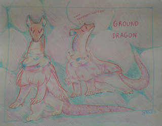 OpenAdoptAuction:Traditional Pencil Crayon Dragon by Rnxr