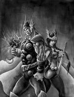 Thor e Sif by ricardoafranco