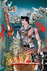 Ash Vs. The Army of Darkness #04 Cover COLORS by PencilInPain