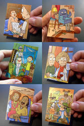 Rick and Morty official sketchcards II by PencilInPain