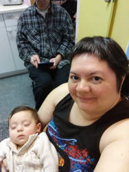 Selfie ~ Mother holding sleeping son~ by LoganTRSeymour