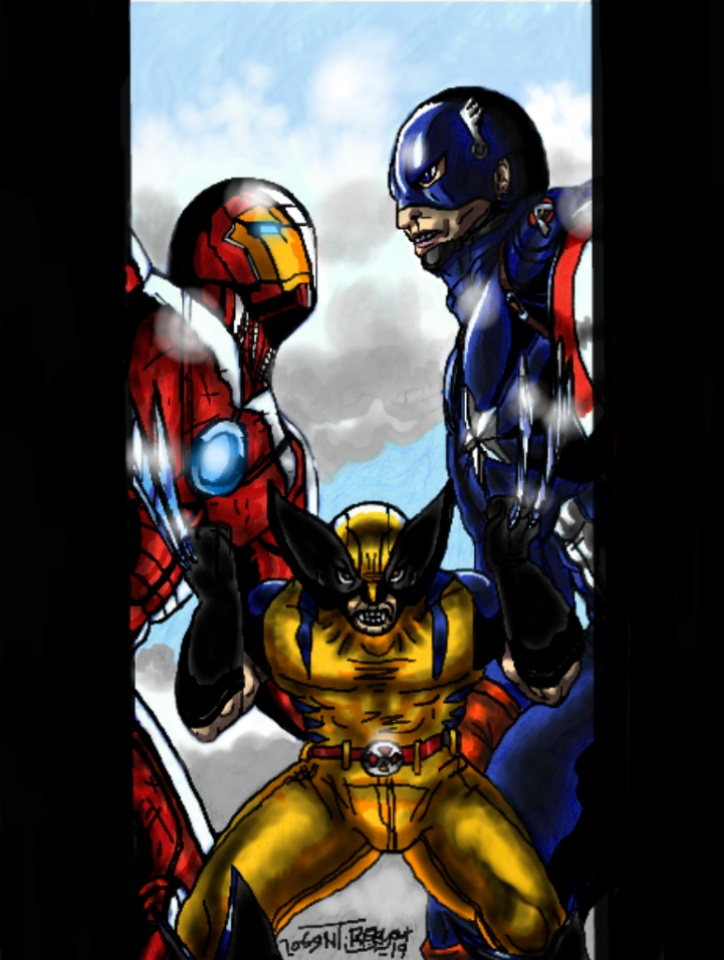 Finished! Ironman vs Captain America ~ Variant by LoganTRSeymour