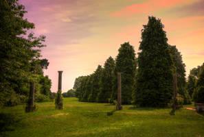 Collonade  Chantry Park, Ipswich, Suffolk, UK by aglezerman