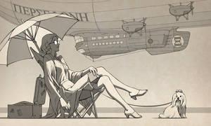 Airship Persephone by Lipatov