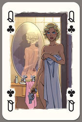 Queen of Clubs by Lipatov