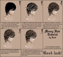 Tutorial: Messy hair by Rami-crazyfox