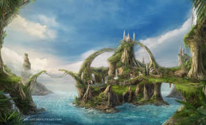 Island of growing stones by NM-art