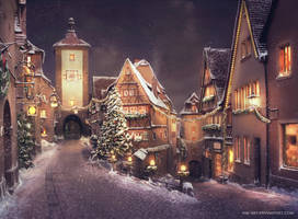 Christmas street by NM-art
