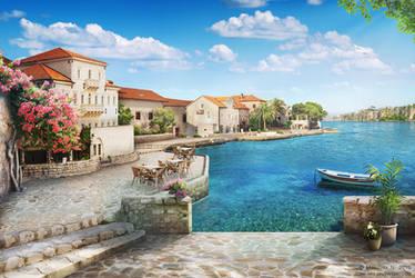 Town near the sea by NM-art