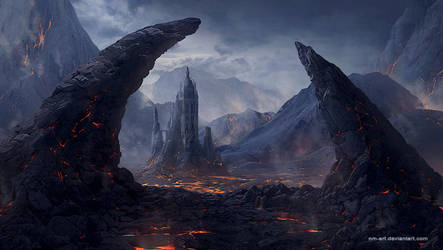 Volcanic area by NM-art