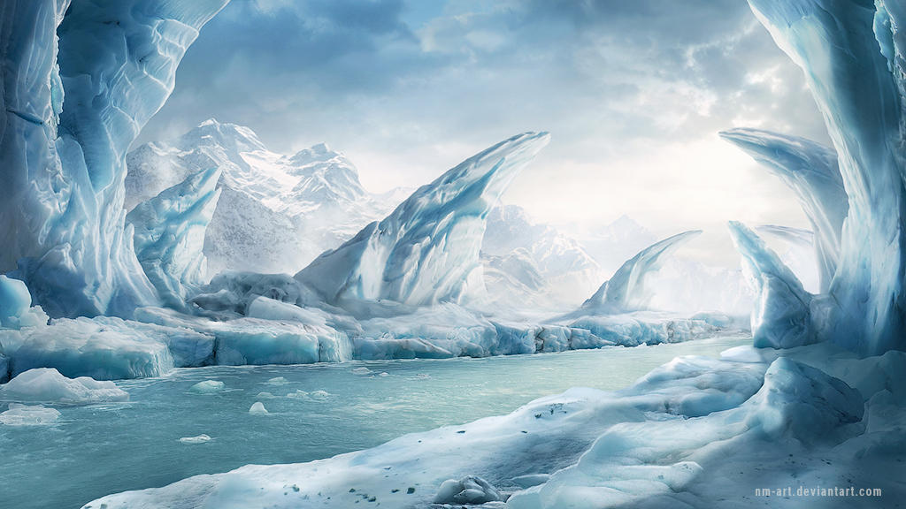 Ice area - background for game by NM-art