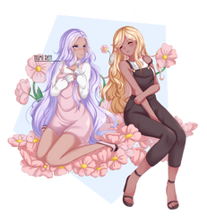 [Commission] In the flowers by NumiRen
