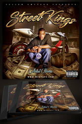 Street Kings CD Cover Template Mixtape by MadFatSkillz