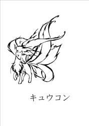 Another Ninetales tattoo style by Kireihanaa
