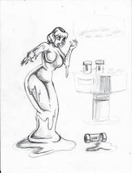 April Slime Girl sketch by LordAltros