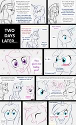Shining Armor gets a foal sitter by HareTrinity