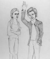 Hey Arnold and Helga by IAmLoXO