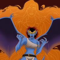 Demona hellfire by Lunamidnight1998