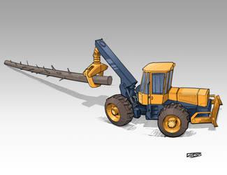3/4 Grappler/Cable Skidder by RobertLaszloKiss