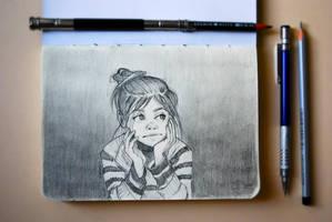 Pencil Drawings Sketchbook: Drawing #1 by nakovalnya-artist