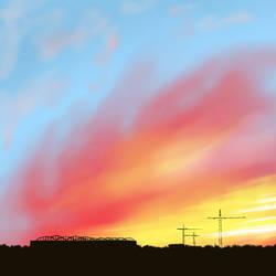 Burning Sunrise by AwfulGood