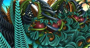 Deep In The Mandelbulb Jungle by moonhigh