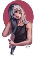 Kari [Reflect the Dark] - Brushing his hair by JazzLassie6020