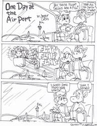 One Day at the Airport by GeorgieGanarf