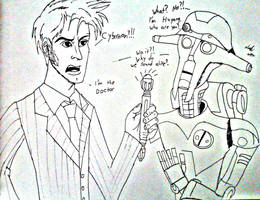 Doctor Who and Star Wars: The Doctor Meets Huyang by JediBandicoot