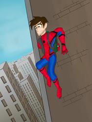 Spiderman Crawling by JediBandicoot