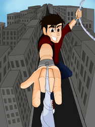 Peter Parker Swinging by JediBandicoot