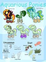 .::Open Species::. Aquarious Ponies by Frozen--Star